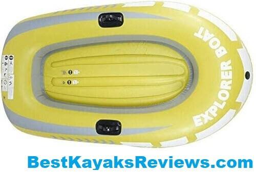 HWZQHJY 2 Person Tandem Inflatable Fishing Kayak